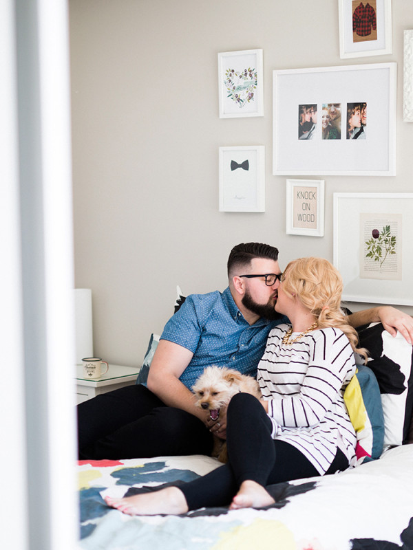 Sam & Jeff's Ottawa Cozy Home Engagement Session