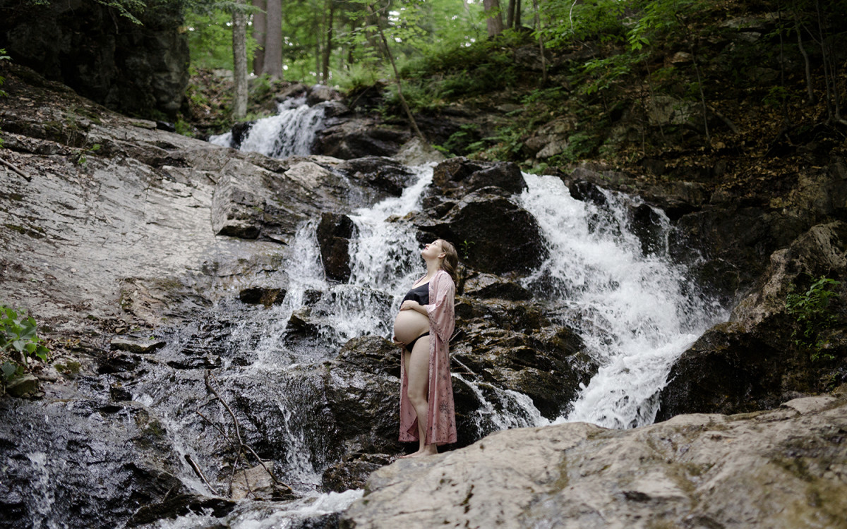 Tia & Ricky's Maternity Session in Gatineau Hills
