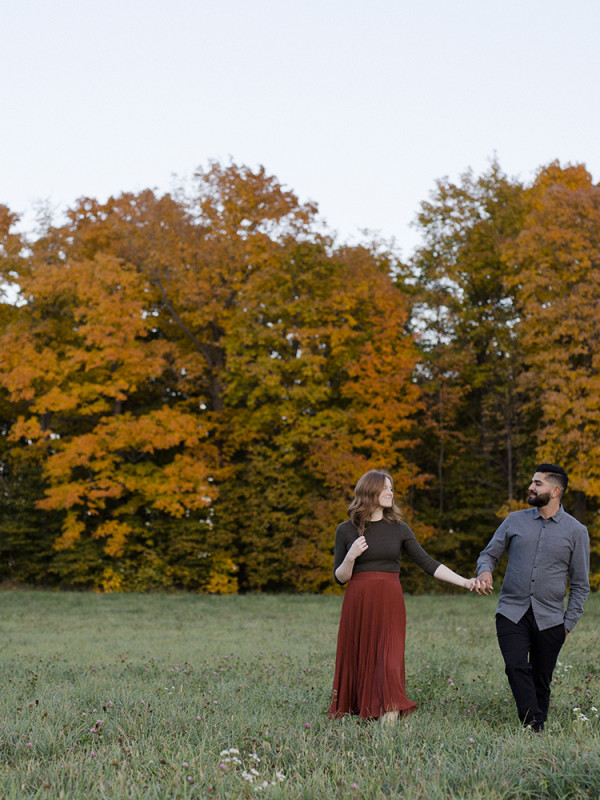Monica & Alex's Engagement Session at Log Cabin Orchard in Ottawa